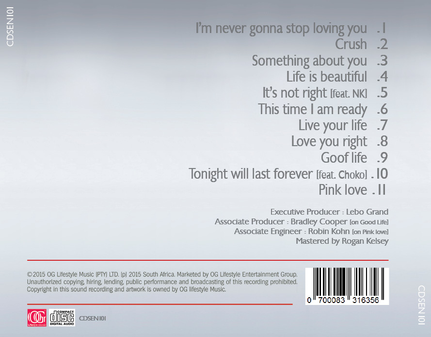 CD Cover Design for Lebo Grand by WOW Studio