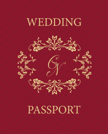 Wedding Passport Invitation Designs by WOW Creative Design Studio