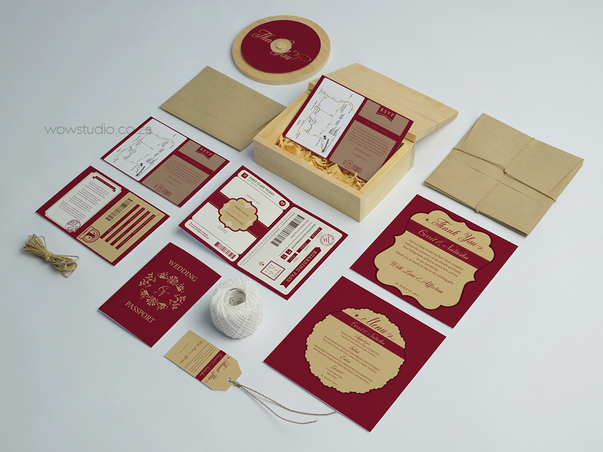 Wedding Stationery And Passport Invitation Design By Wow Creative