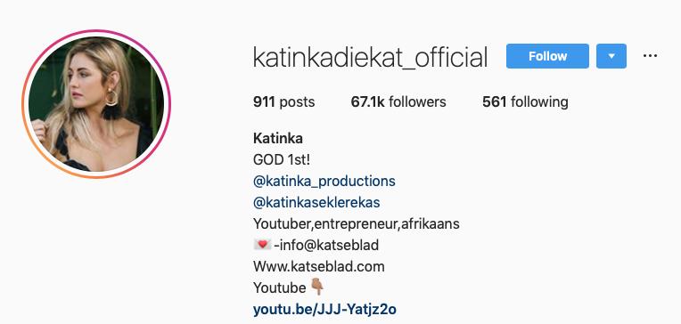 Katinka die Kat Influencer