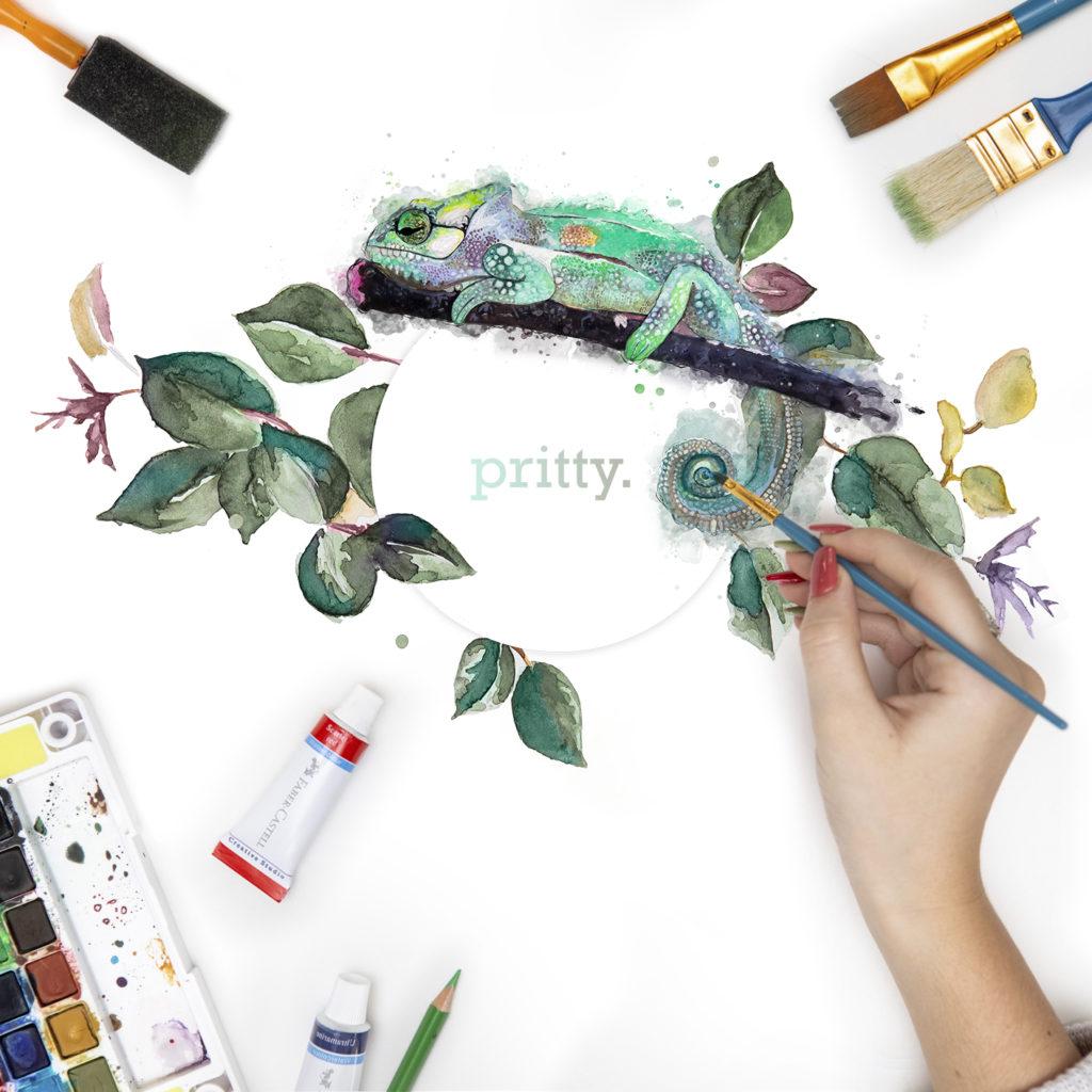 WOW Creative Design Studio Branding for Pritty